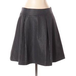 Banana Republic Solid Black Metallic Skirt